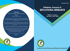 View Vol. 3 No. 1 (2020): Pakistan Journal of Educational Research